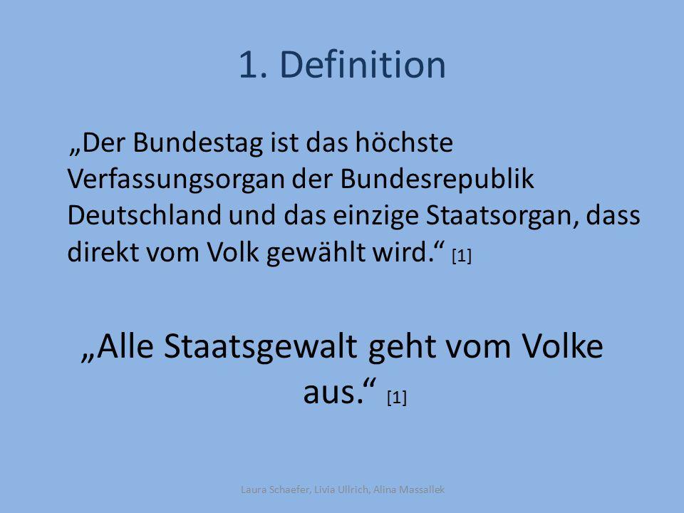 """1. Definition """"Alle Staatsgewalt geht vom Volke aus. [1]"""